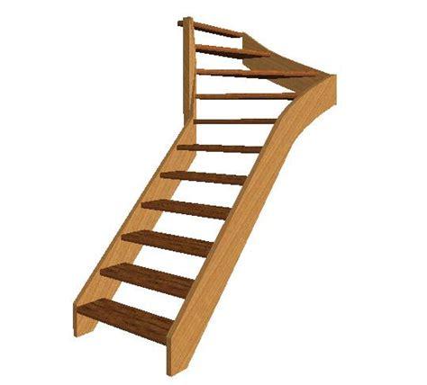 escalier 1 4 tournant haut gauche inspiration du blog