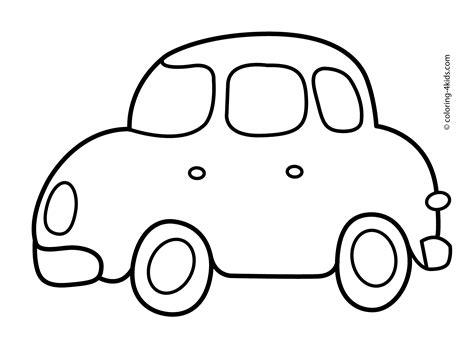 simple car transportation coloring pages  kids