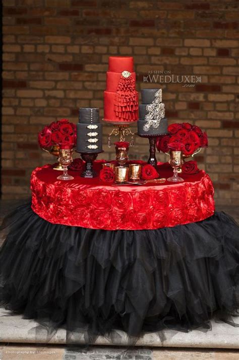 red and black table ls red black bling wedding cake table dessert food tapas