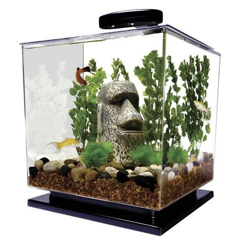 fish tank with filter and light cube led light aquarium kit fish tank betta 3 gallon aqua