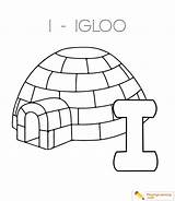Coloring Igloo Alphabet Letter Pages Printable Template Through Date Playinglearning sketch template