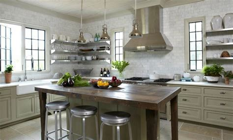White Kitchen Cabinets Taupe Island Design Ideas