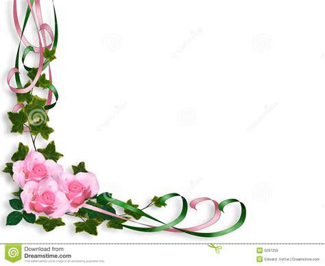 Pink Rose Corner Border