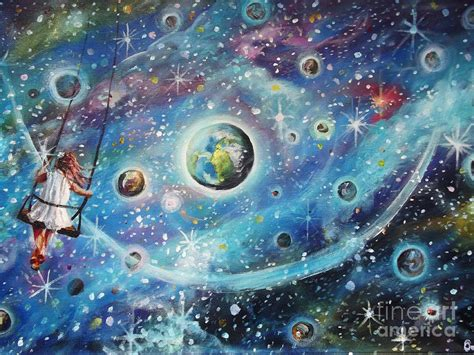 The Universe Is My Playground Painting By Dariusz Orszulik