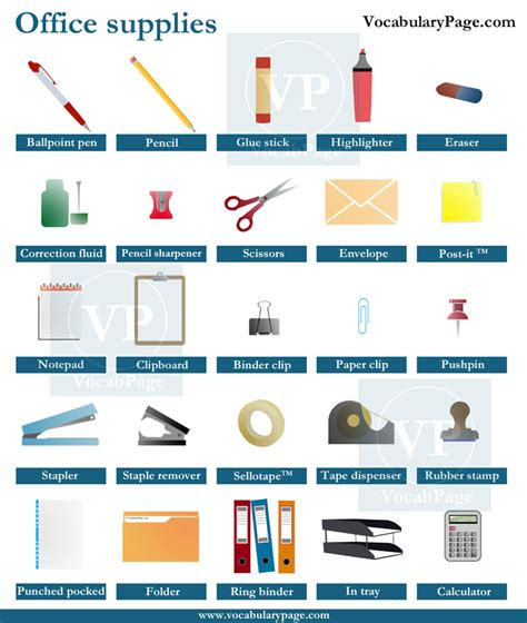 office supplies in the office
