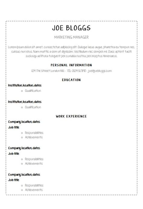 Working With Children Resume by Neatly Written R 233 Sum 233 Template How To Write A Cv