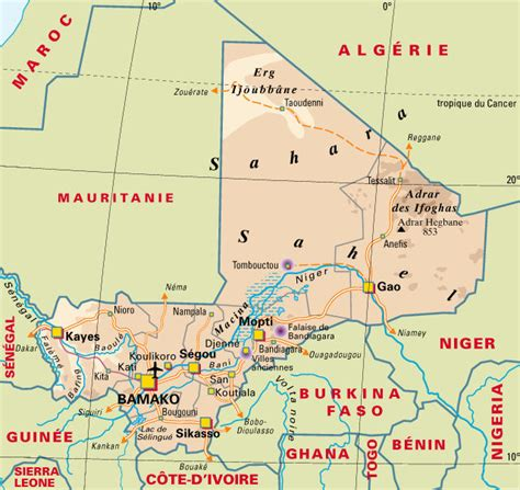 cartograffr les pays le mali
