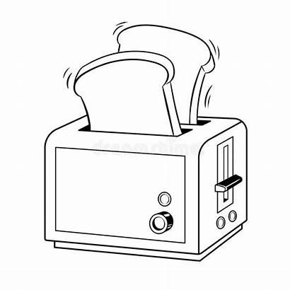 Toaster Toast Vektor Pop Pain Vektorillustration Arten