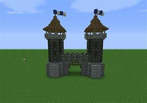Medieval gate house | minecraft | Pinterest | Medieval ...