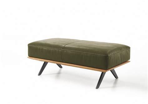 canapé pouf design canapé angle design contemporain cuir et bois temperant pm