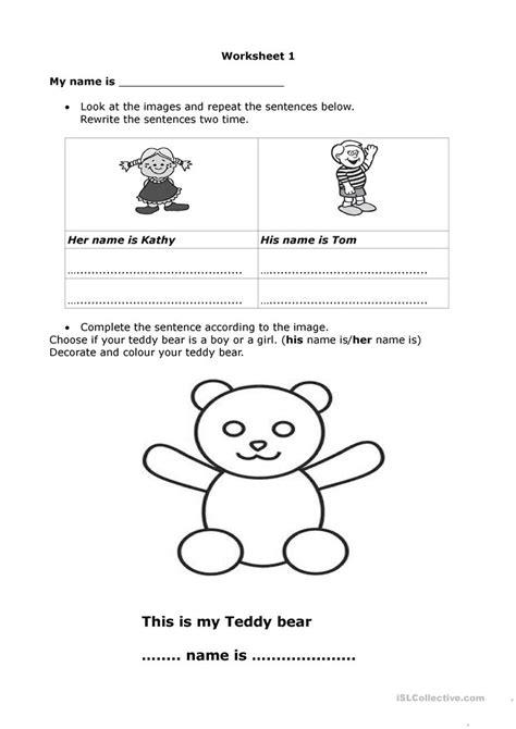 Hisher Name Is Worksheet  Free Esl Printable Worksheets Made By Teachers