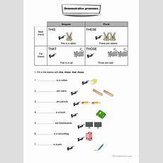 Demonstrative Pronouns Worksheet Worksheet  Free Esl Printable Worksheets Made By Teachers