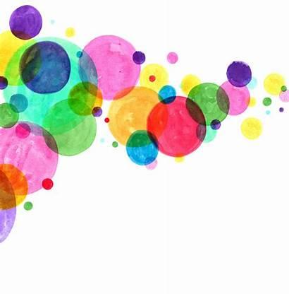 Watercolor Circles Dot Dots Vector Abstract Colourful