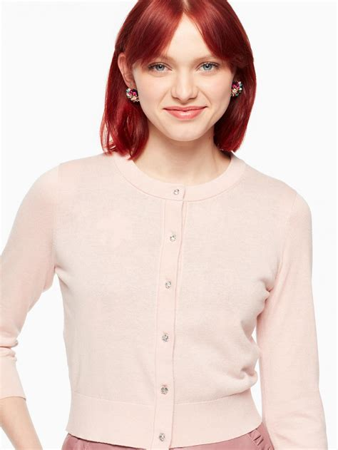 kate spade sweaters womens jewel button cropped cardigan