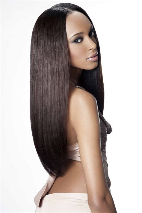 virgin remy sew  weave hair extensions natural straight