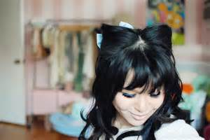 how to make cat ears with hair my rainbow cat ear hairstyle