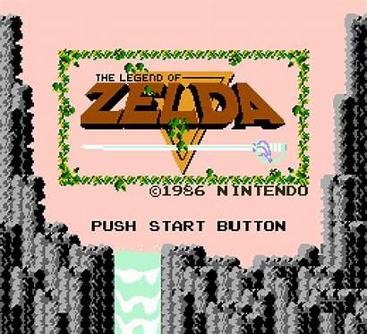Zelda Title Legend Nes Screen Games Start