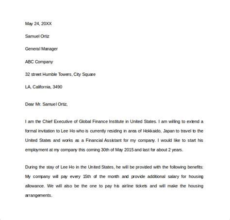 invitation letter   visa    documents