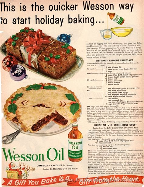 wessons famous fruit cake   days  vintage
