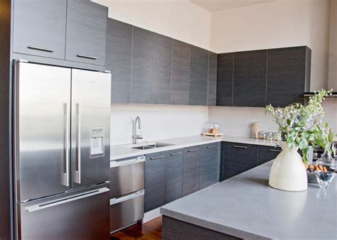 gray kitchen cabinets with stainless steel appliances modern white kitchen with gray wood cabinets and stainless