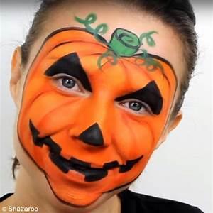 Dessin Citrouille Facile : tutoriel halloween maquillage citrouille tuto vid o id es conseils et tuto halloween ~ Melissatoandfro.com Idées de Décoration