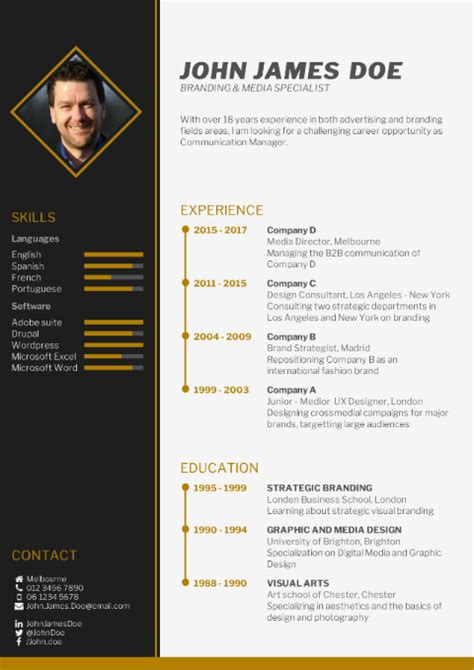 Create My Cv For Free by Cv Template Free Cv Builder Best Cv Templates