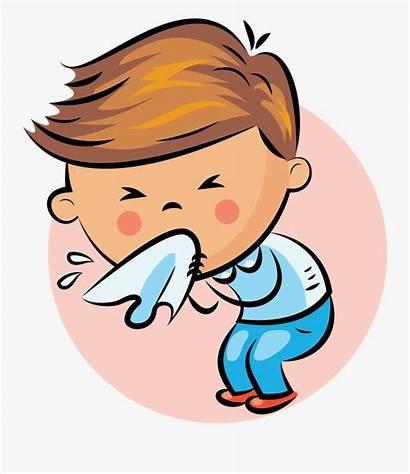 Nose Cartoon Clipart Tissue Someone Sneezing Sneeze