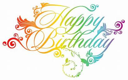 Birthday Word Clipart Transparent Clip Greeting Happy