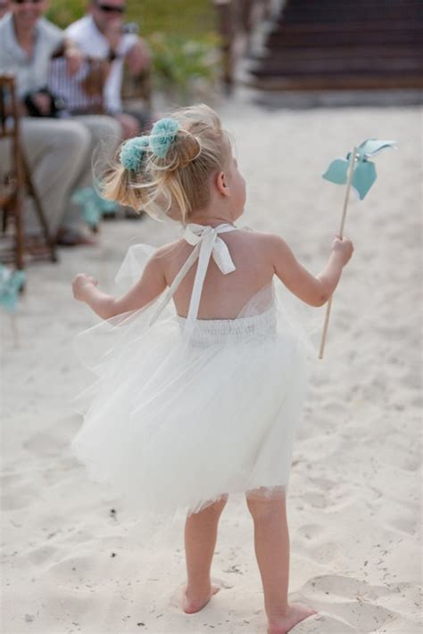 destination wedding beach flower girl dress  ivory