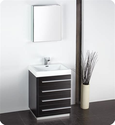 "Fresca Livello 24"" Black Modern Bathroom Vanity With"