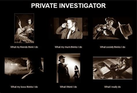 Investigator Meme - what my boss thinks i do in what i really do scoop it