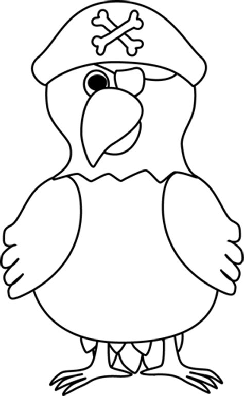 parrot clipart black and white pirate clipart for black and white clipart panda