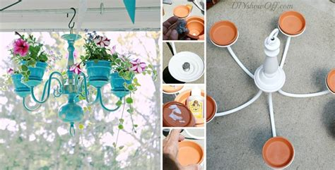 diy chandelier planter tutorial home design garden