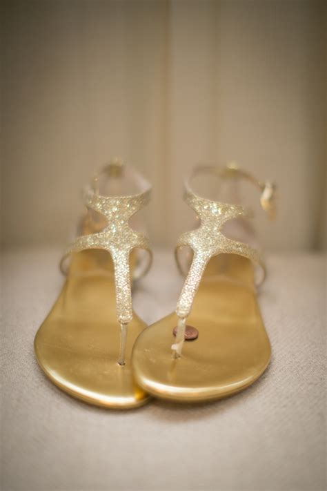 gold glitter bridal sandals elizabeth anne designs