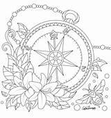 Coloring Compass Adult Adults Pattern Desenhos Printable Problems Math Flower Line Mandala Drawing Sheets Worksheets Creative Colorear Malvorlagen Carnaval 1st sketch template