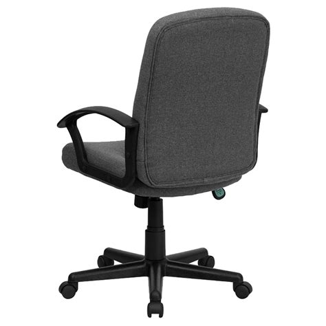 executive swivel office chair mid back arms gray