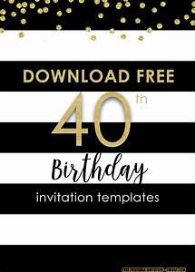 Free 50th Birthday Invitation Templates Printable Free Printable 40th Invitation Templates Updated Drevio