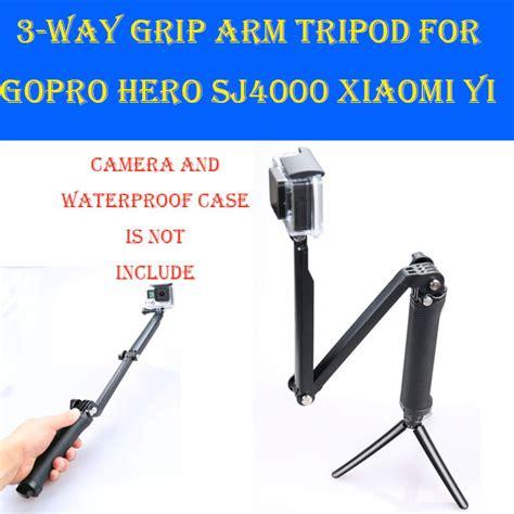3 way grip arm tripod monopod 3way mount gopro accessories for go pro 4 3 3 xiaomi yi