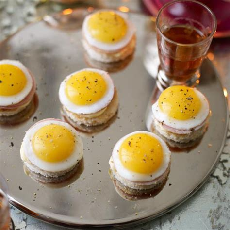 mini canape ideas mini eggs benedict housekeeping