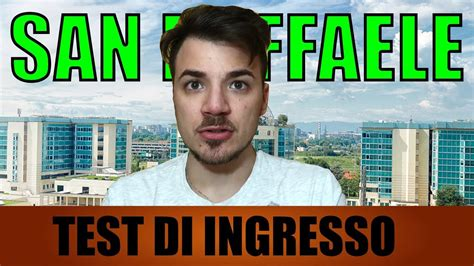 Test Ingresso Medicina San Raffaele by Come Superare Il Test D Ingresso A Medicina San Raffaele