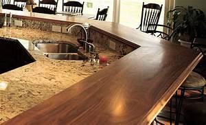 Walnut Wood Raised Breakfast Bar Countertops in Virginia