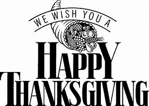 Thanksgiving black and white happy thanksgiving clipart ...