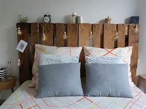 Faire Une Tête De Lit En Bois : faire une t te de lit avec des palettes con fession ~ Teatrodelosmanantiales.com Idées de Décoration