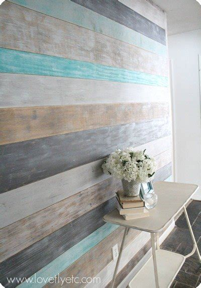 interior wall planks diy painted plank wall lovely etc