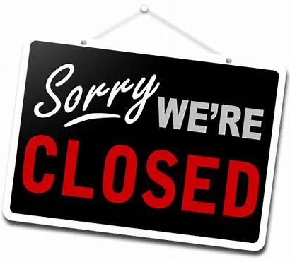 Today Dining Closing Cafeteria Closed Sign Hall