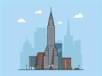Building York Office Usa Animations 3d Chrysler