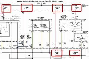 1998 Chrysler Sebring Gage Cluster Lights  Hi  The Gage