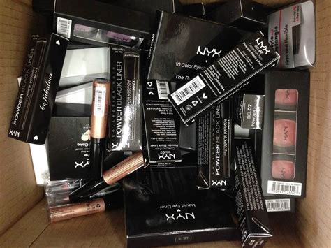 nyx cosmetics wholesale boxes makeup closeout overstock