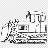 Coloring Bulldozer Clipart Transparent Shovel sketch template