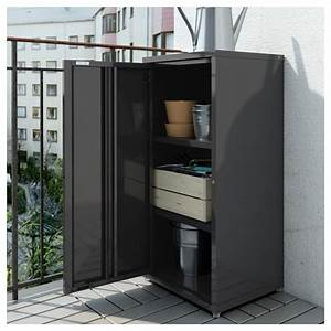 Josef cabinet in outdoor dark grey 40x35x86 cm ikea for Outdoor schrank